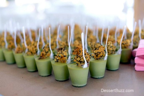 C-CAP Sweet Sensations Dessert Event 4/21 -- Matcha Pot de Creme with Black Sesame Glass